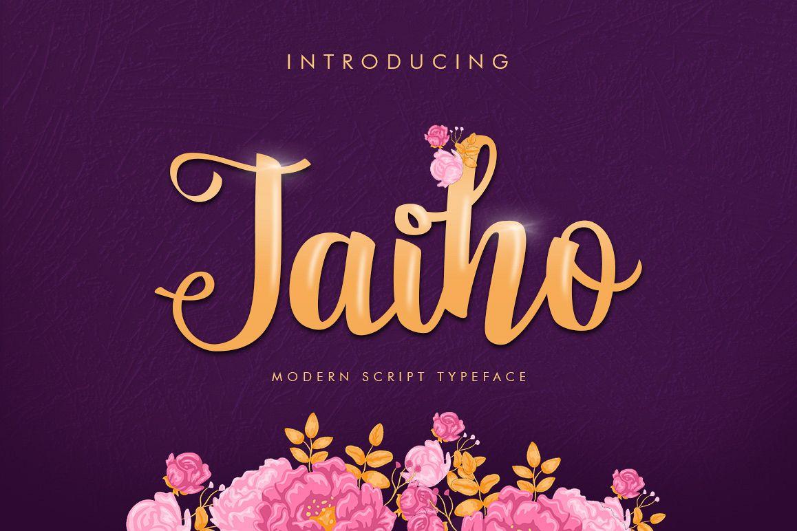 Jaiho Script (Duo Font) example image