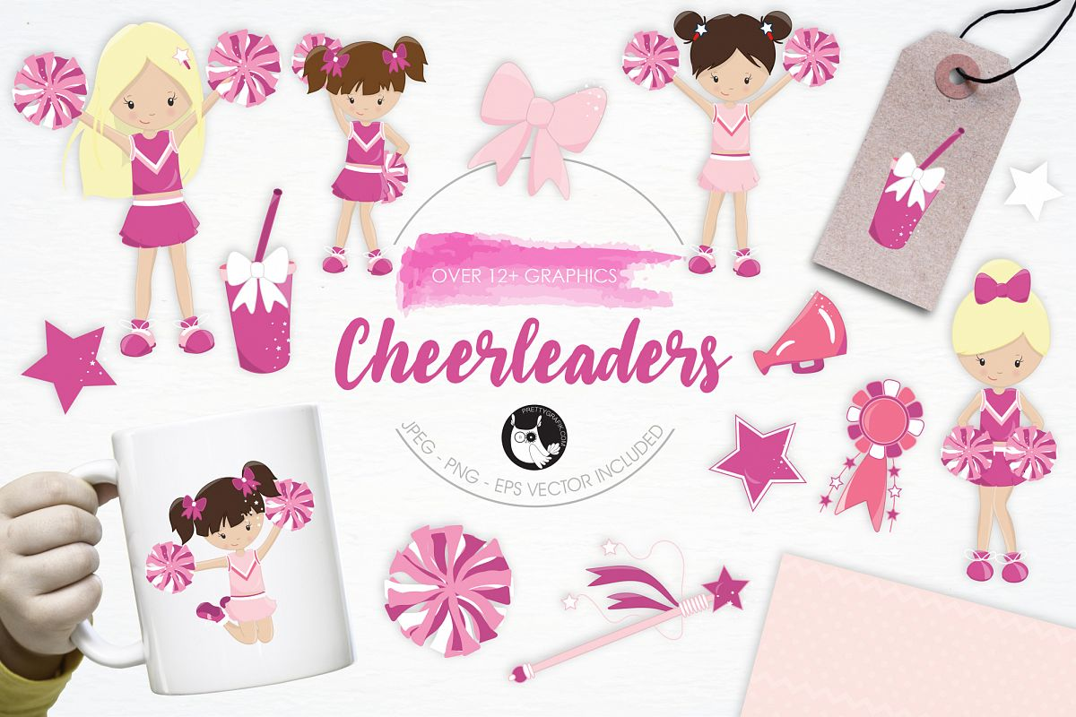 Cheerleaders graphics and illustrations example image
