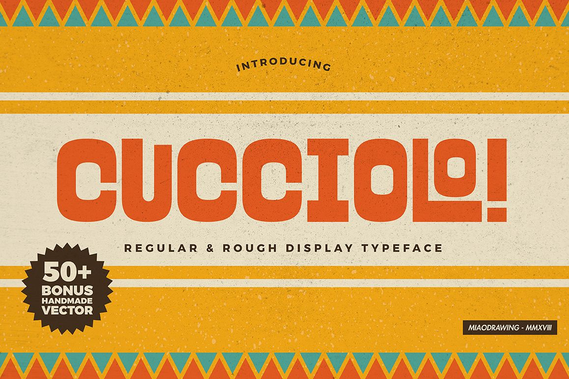 Cucciolo Typeface + Extras example image