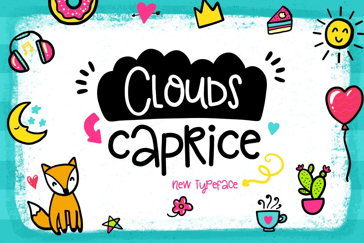 Clouds Caprice Typeface example image