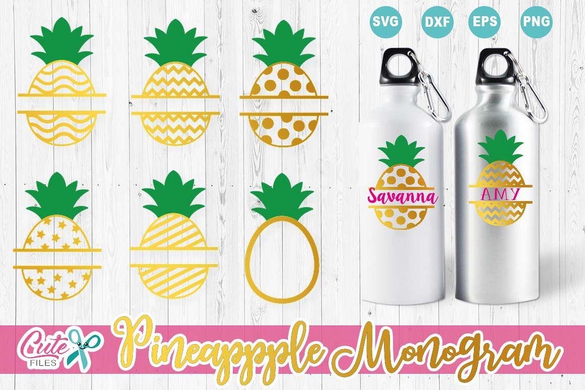 Pineapple, Summer monograms frames Min   Design Bundles