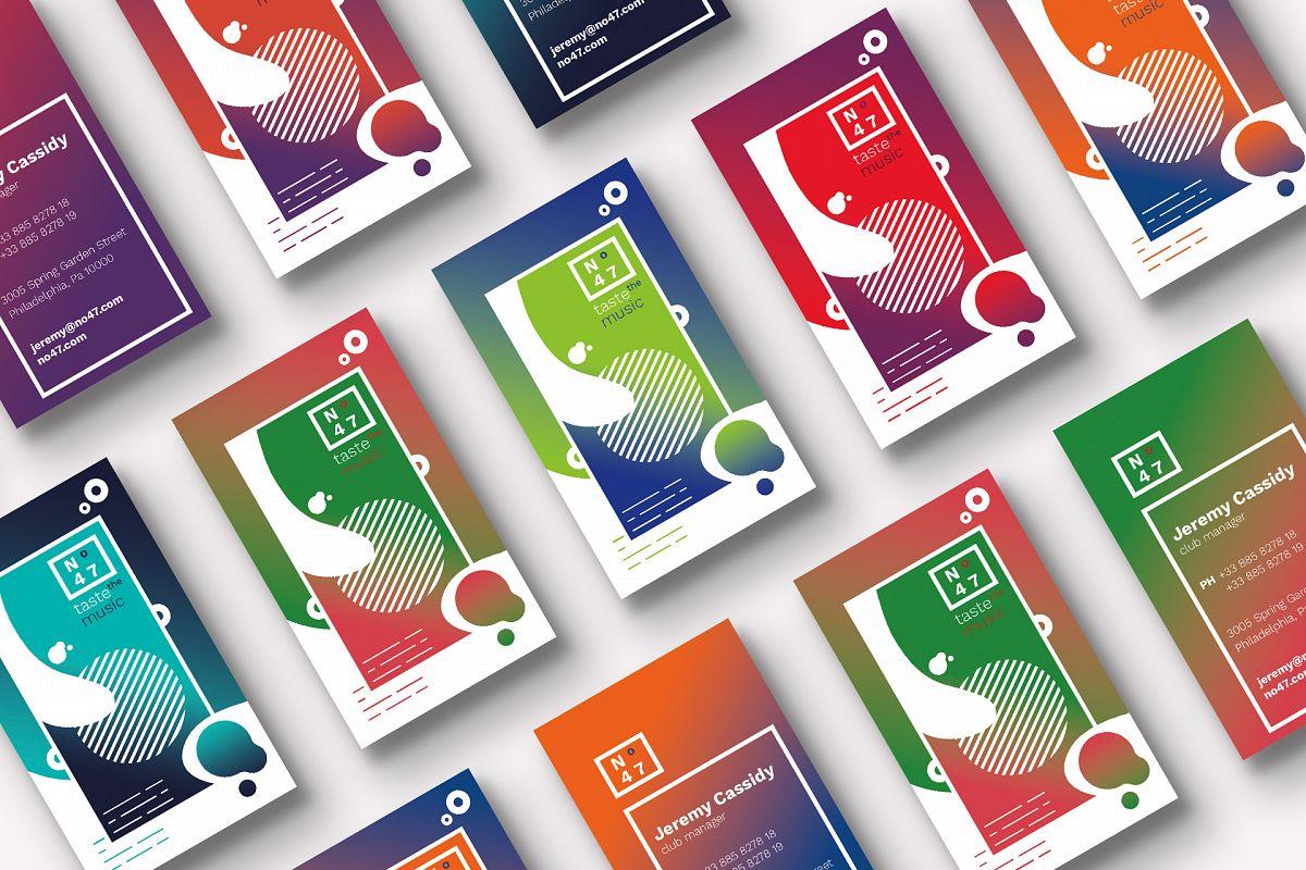 Club 47 Business Cards Template by Feli | Design Bundles