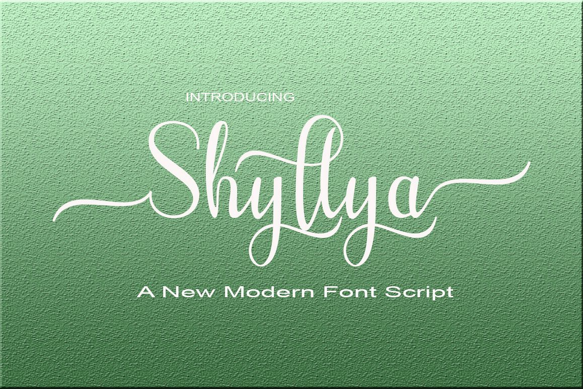 Shyllya Script example image