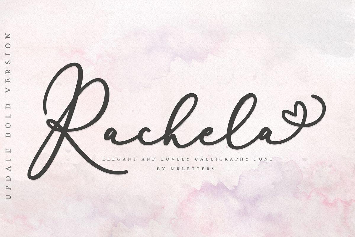 Rachela Script Bold example image