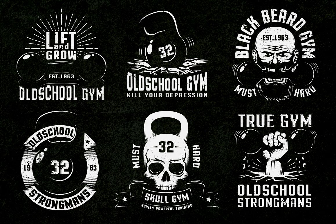 Gym Retro Logo 2 example image 2