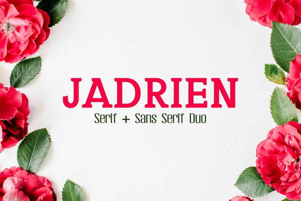 Jadrien Serif + Sans Duo 5 Font Pack example image