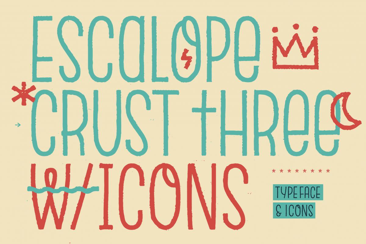 Escalope Crust Three + Icons example image