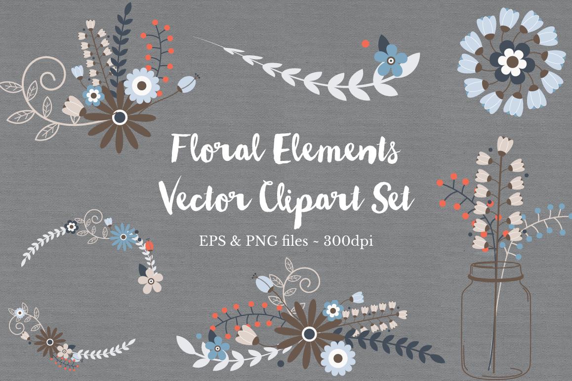 Floral Wreath Clipart Vectors example image