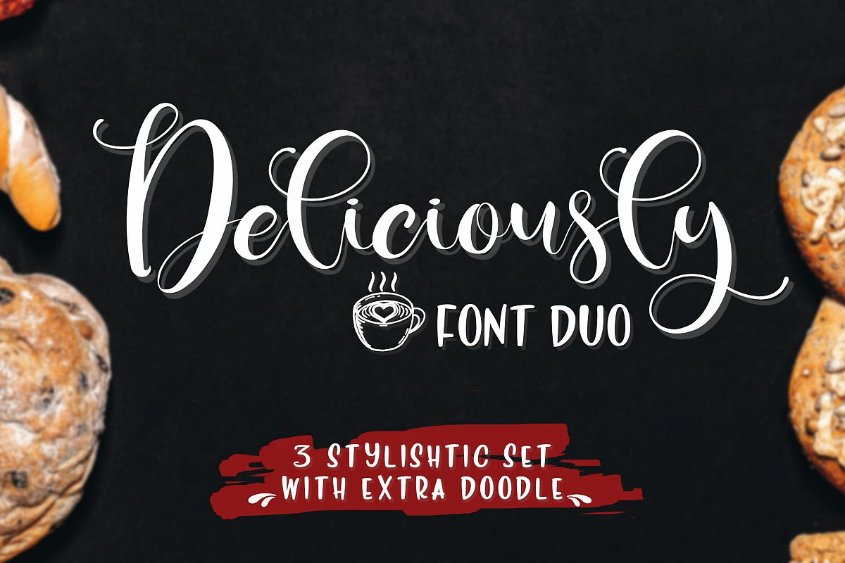 Deliciously Font Duo + Extras example image