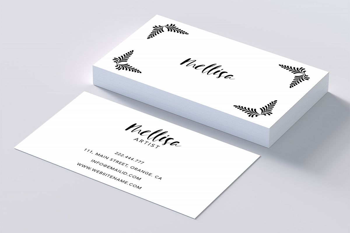 Eye catching art business card by Creat | Design Bundles