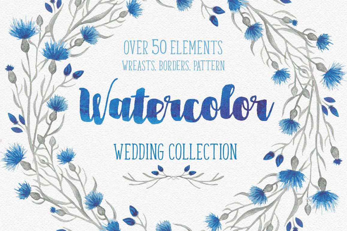 Blue flower _Wedding collection_ example image