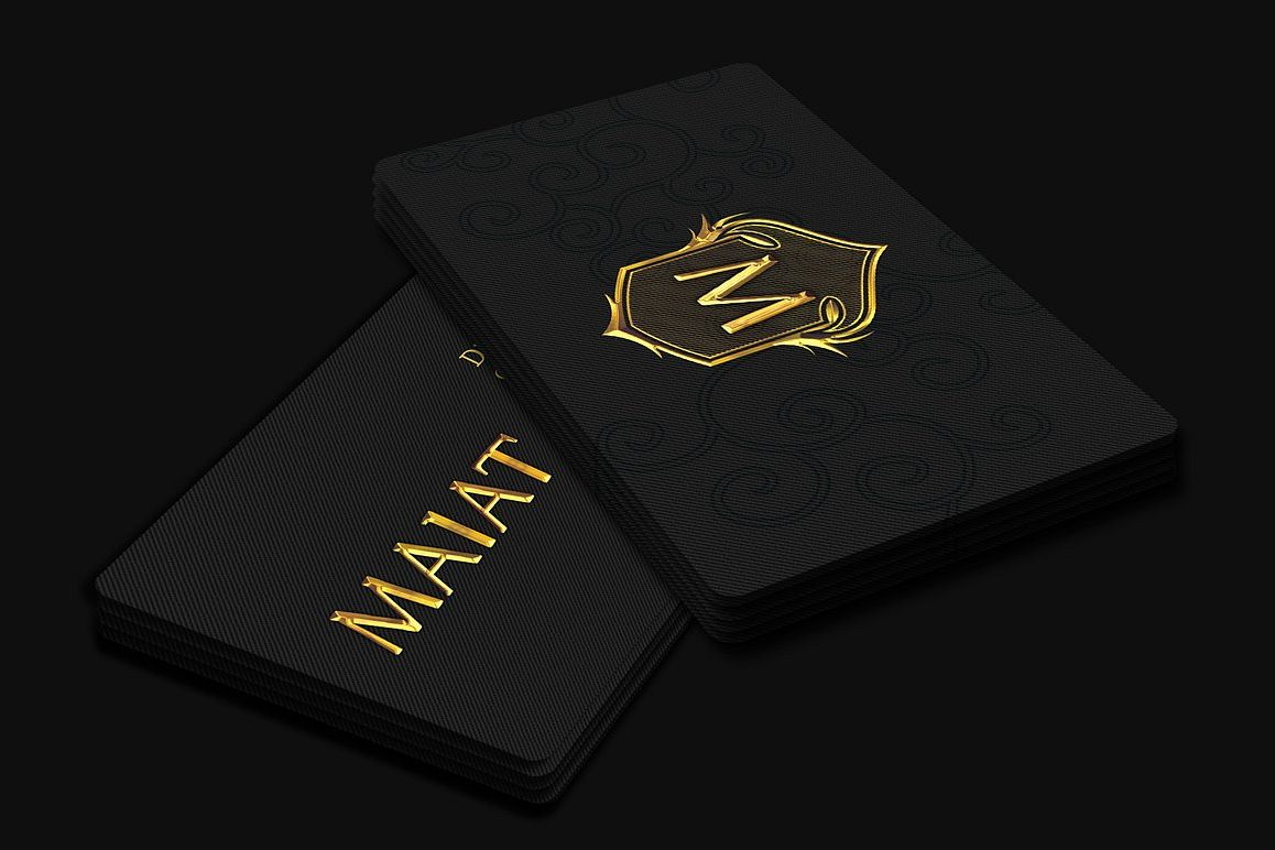 Golden Business Card example image