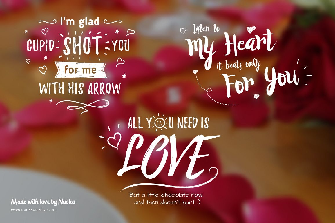 5 Greeting Overlays Words Of Love By Design Bundles