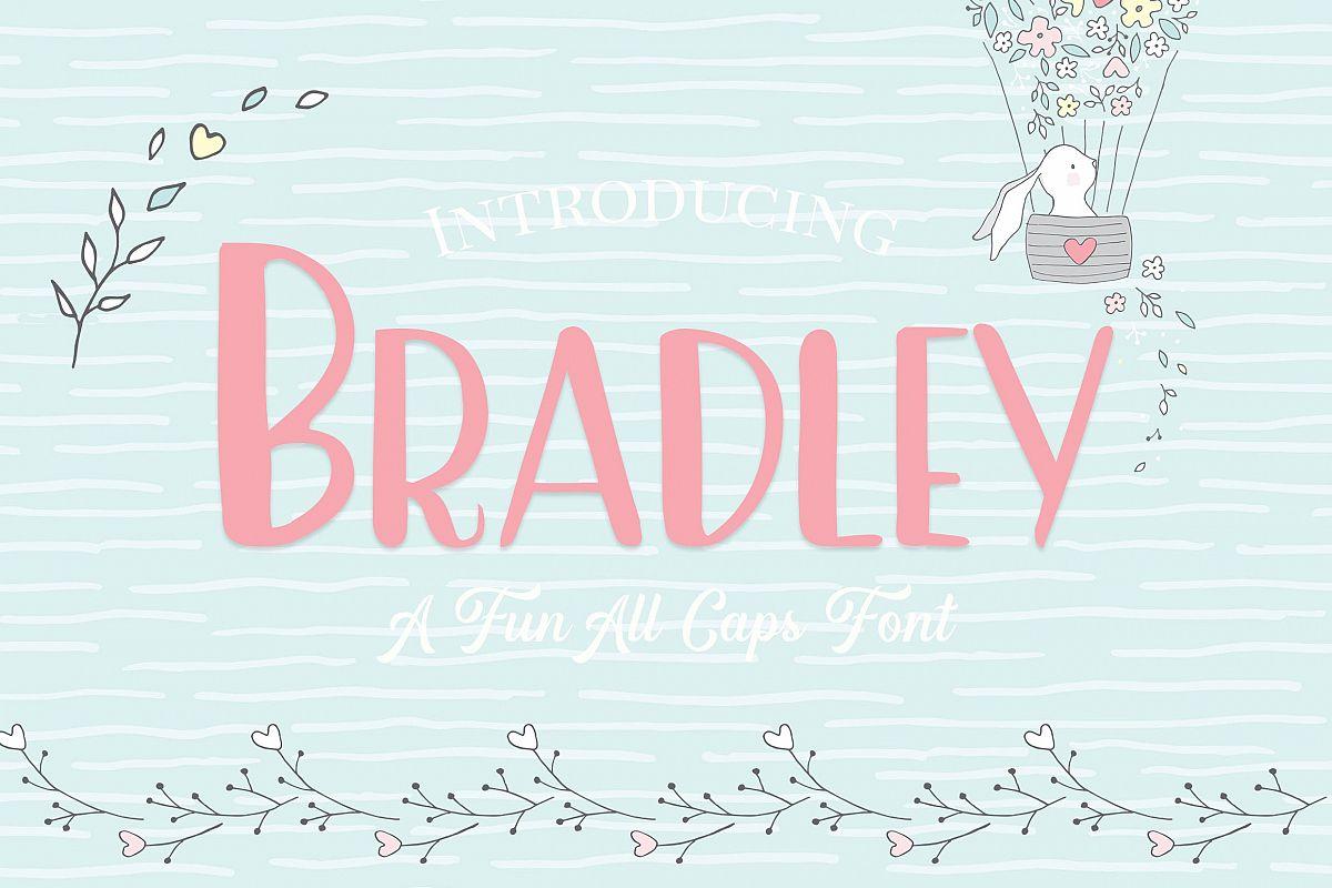 Bradley- A Fun Caps Font example image