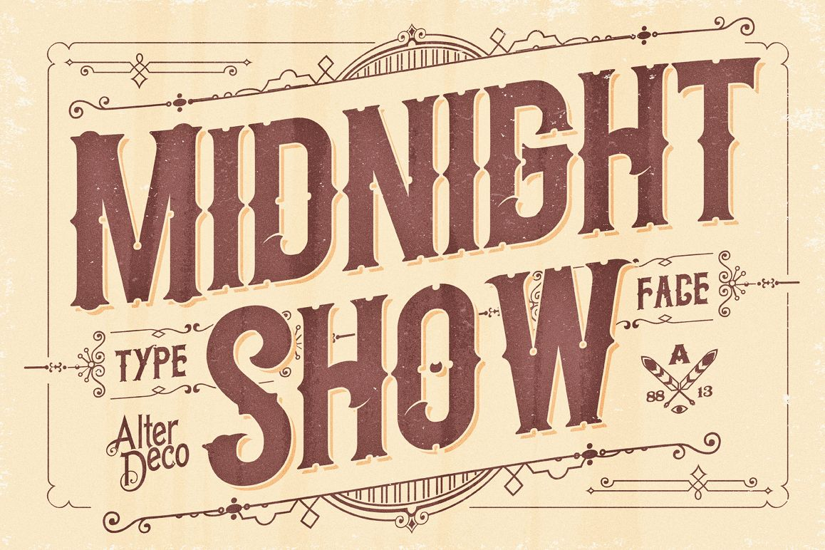Midnight Show typeface example image