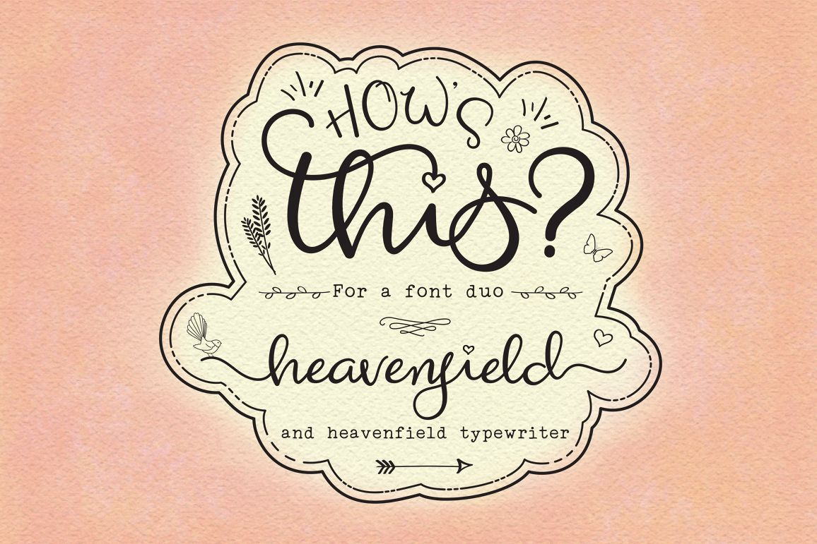 Heavenfield wedding font duo example image