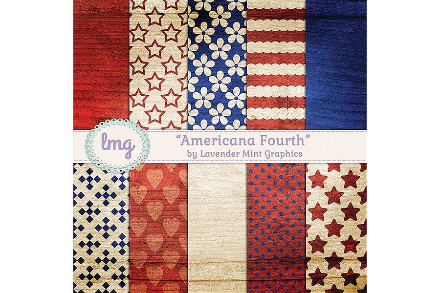Americana Fourth Digital Papers example image