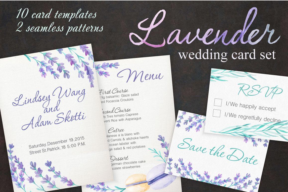 Lavender Wedding Card Set example image
