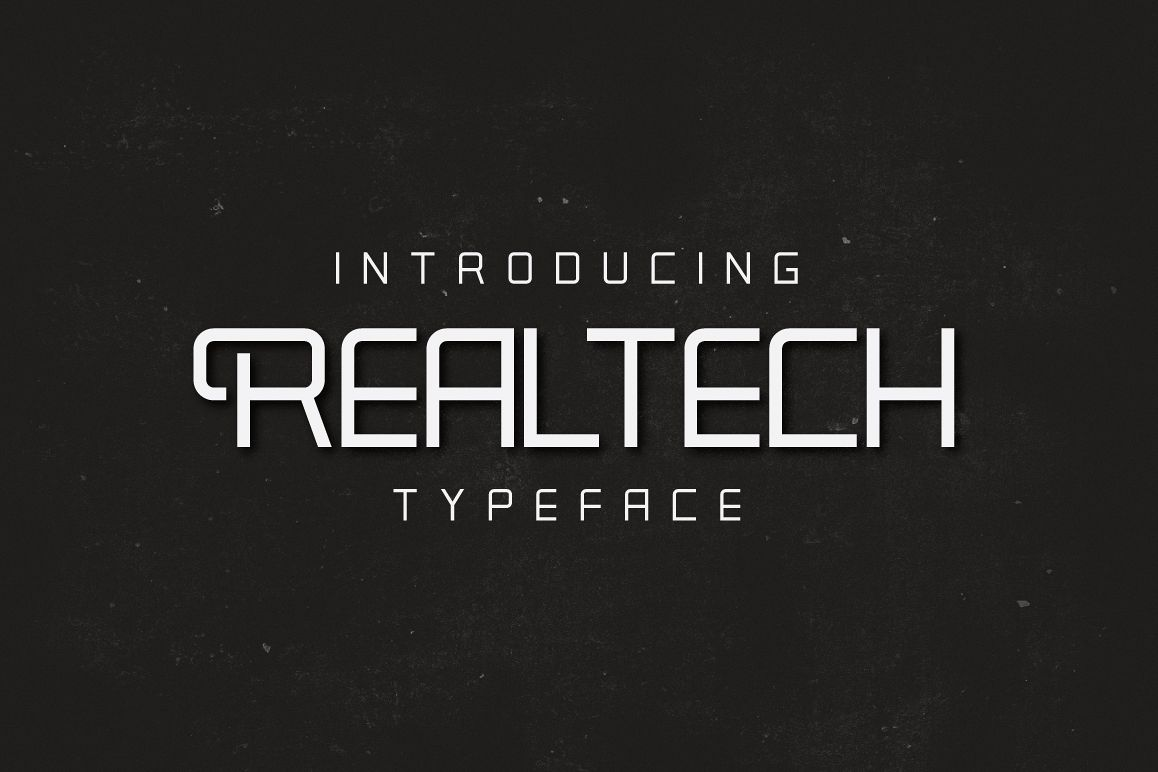 Real Tech Typeface example image