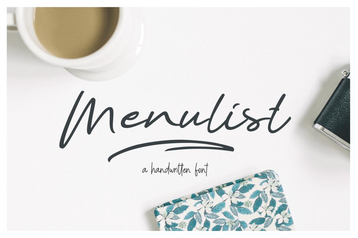 Menulist Typeface example image