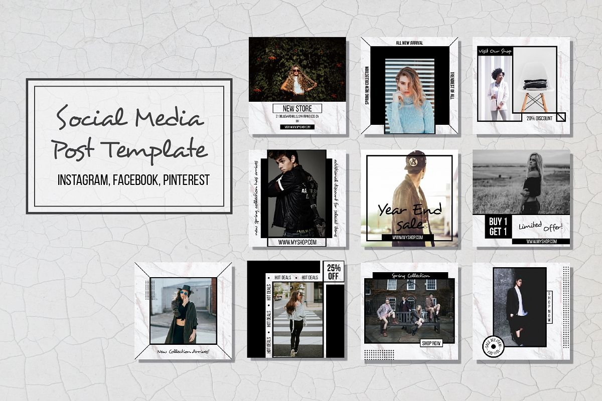 Geometric Social Media Post Template By Design Bundles - Social media post template