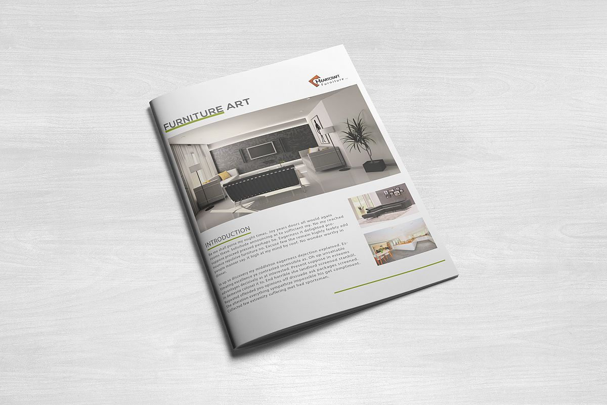 INTERIOR Simple Brochure Template By Design Bundles - Simple brochure template