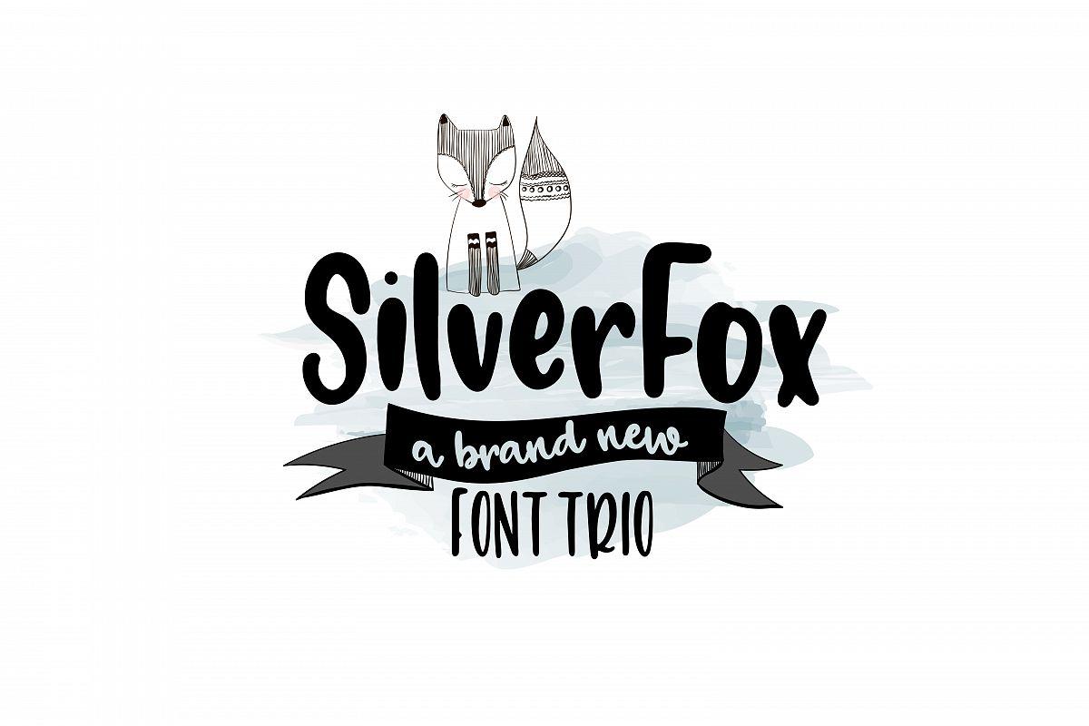 SilverFox Font TRIO example image