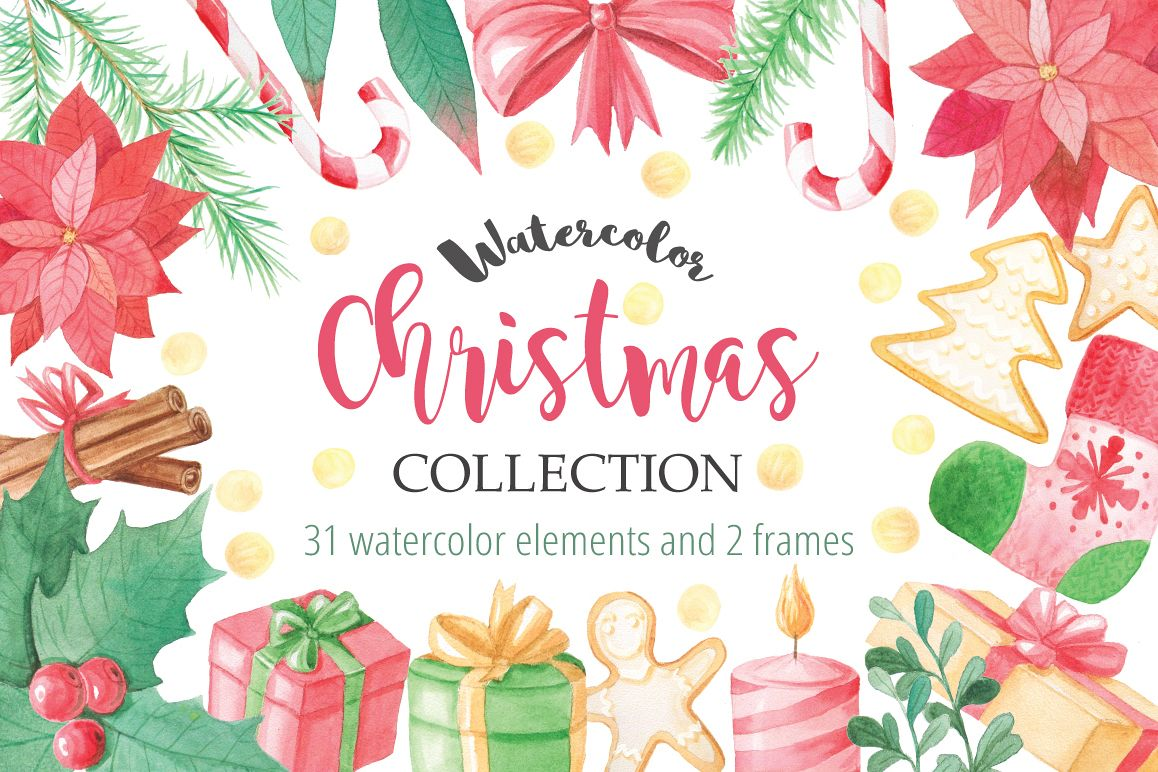 Watercolor Christmas Collection example image
