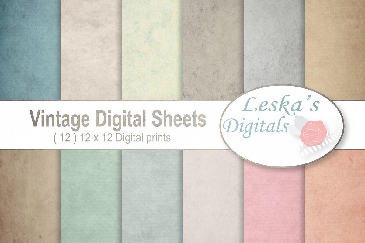 Vintage Paper Backgrounds - Textured Ba | Design Bundles