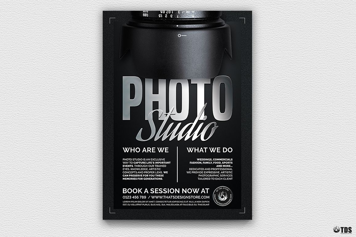 Photo Studio Flyer Template V2 example image
