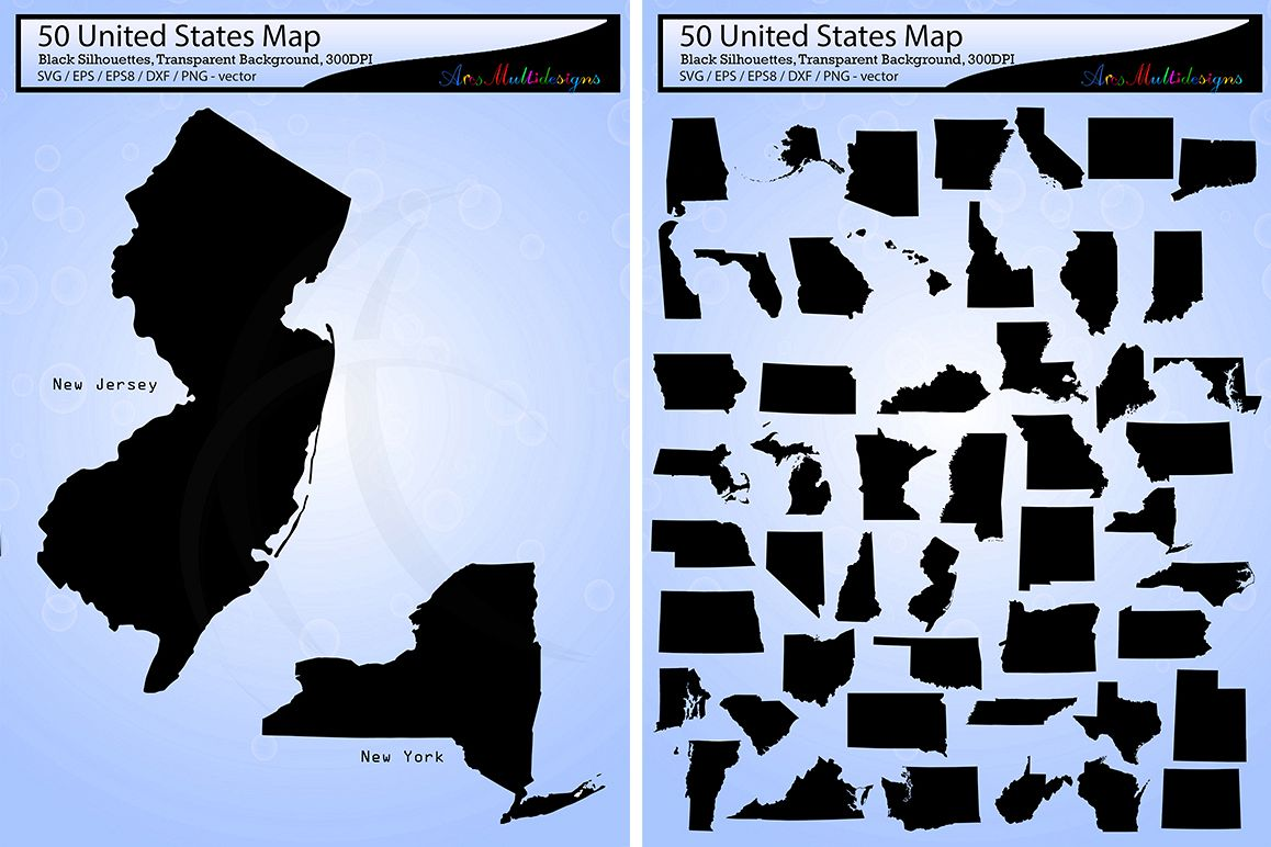 United states map vector 50 usa map s design bundles united states map vector 50 usa map silhouette svg eps png gumiabroncs Image collections