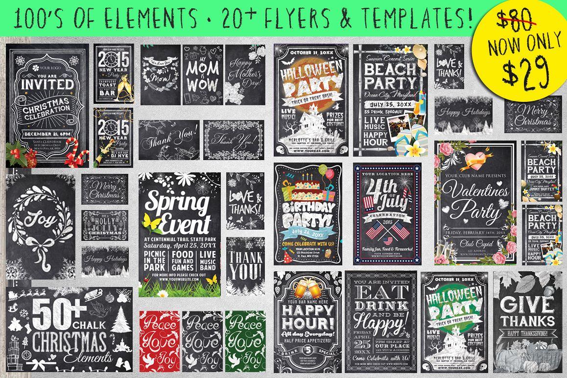 Mega Chalk Holiday Bundle (60% off) example image