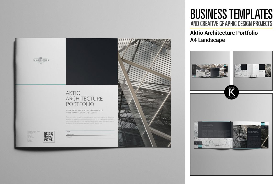 Aktio Architecture Portfolio A4 Landscape example image