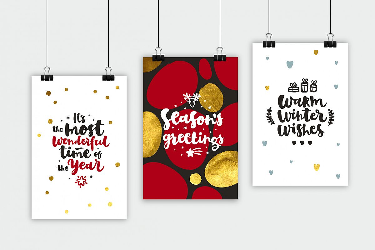 Merry Christmas Vector Set example image 11