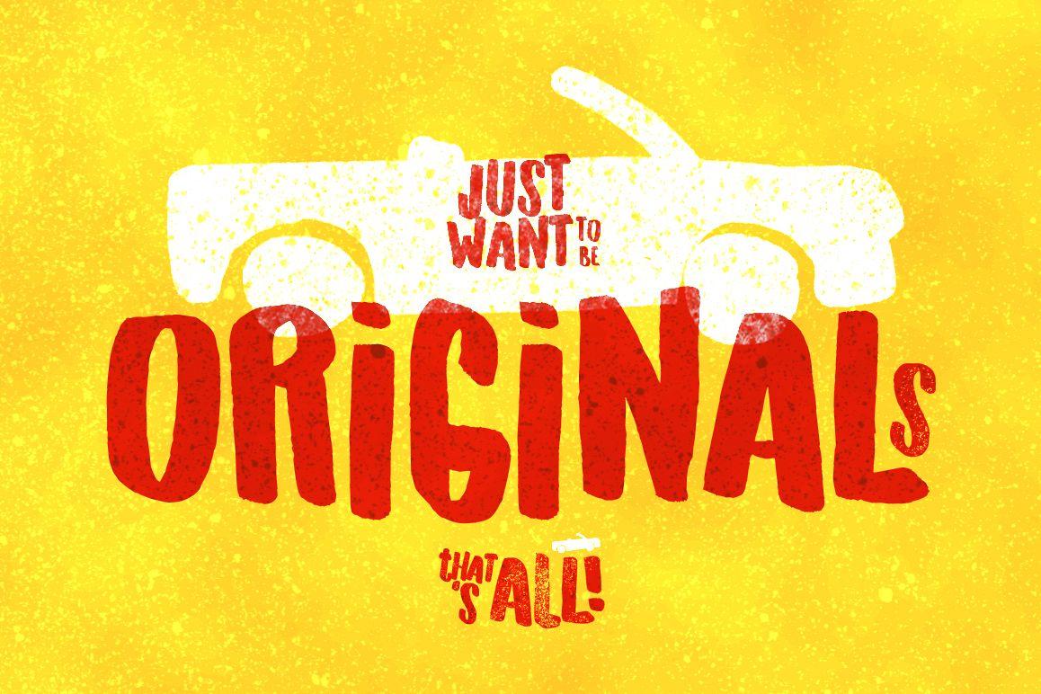 Originals Typeface example image