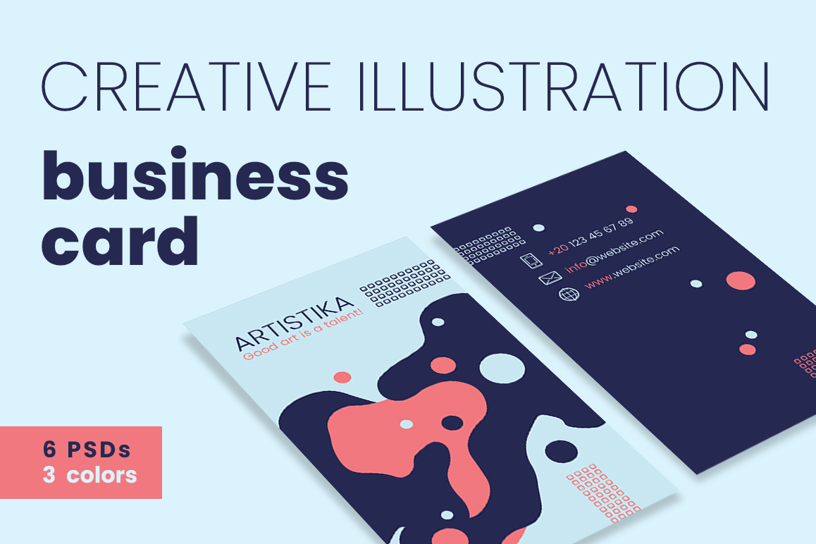 Creative Illustration Business Cards by | Design Bundles