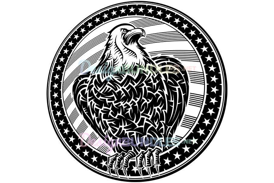 Vector American Eagle Usa Natioal Symbo Design Bundles