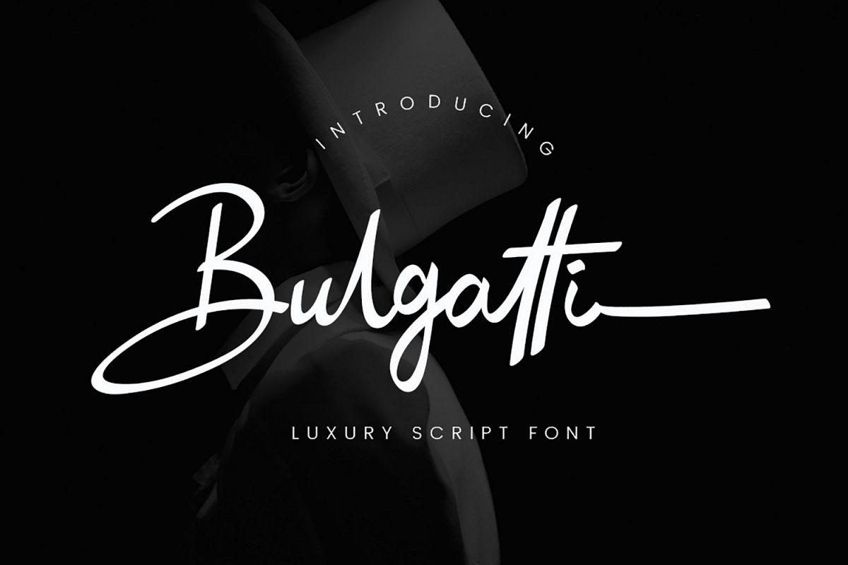 Bulgatti Luxury Script example image