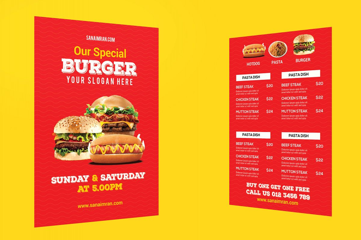 restaurant flyer template example image