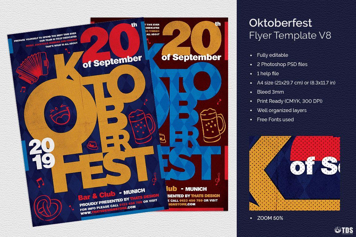 Oktoberfest flyer template V8 example image