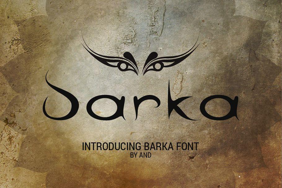 Barka font example image