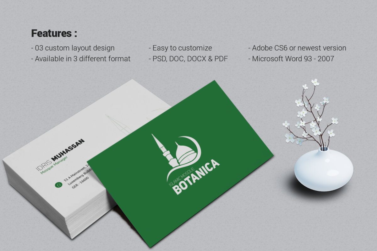 Minimalist Business Card by One Graphic | Design Bundles
