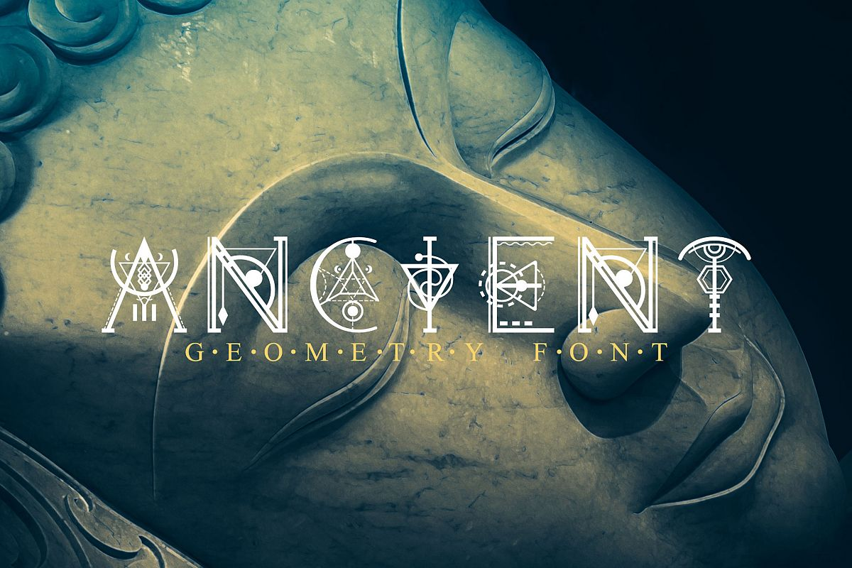 Ancient-Geometry font example image