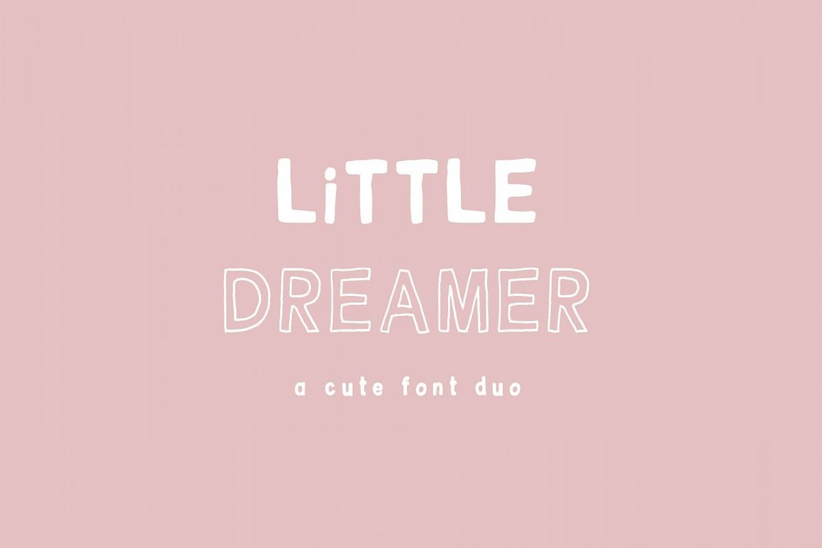 Little Dreamer Font Duo example image