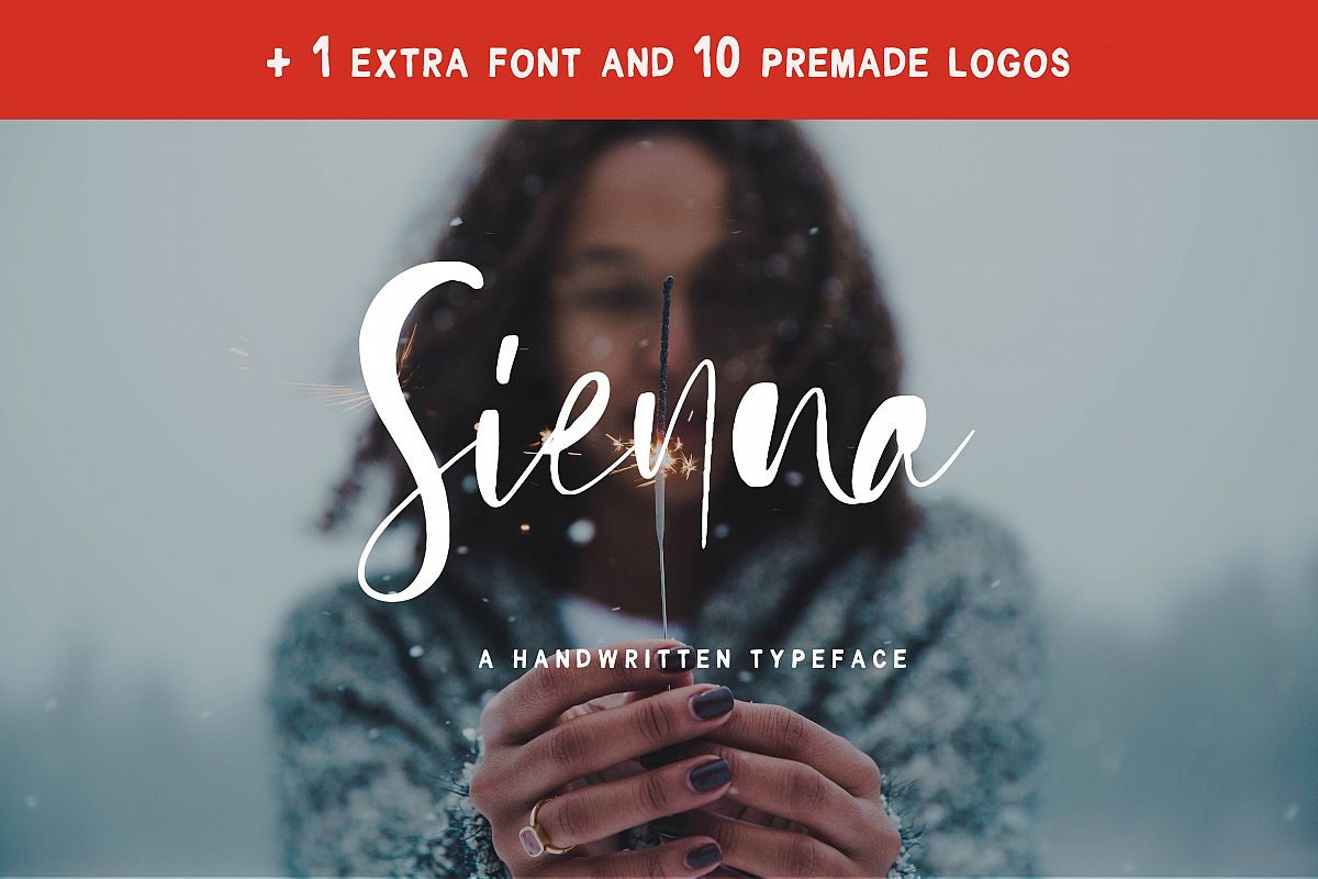 Sienna Signature Font + Extras example image