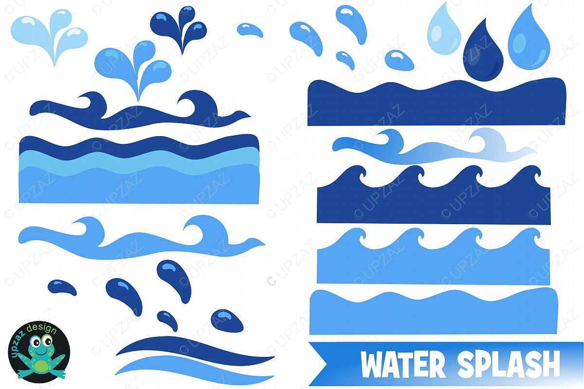 water waves clipart by upzaz design bundles rh designbundles net Tidal Wave Clip Art Simple Wave Clip Art