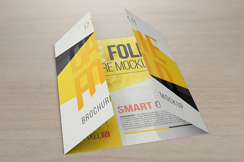 X  Gate Fold Brochure Mockups By V  Design Bundles