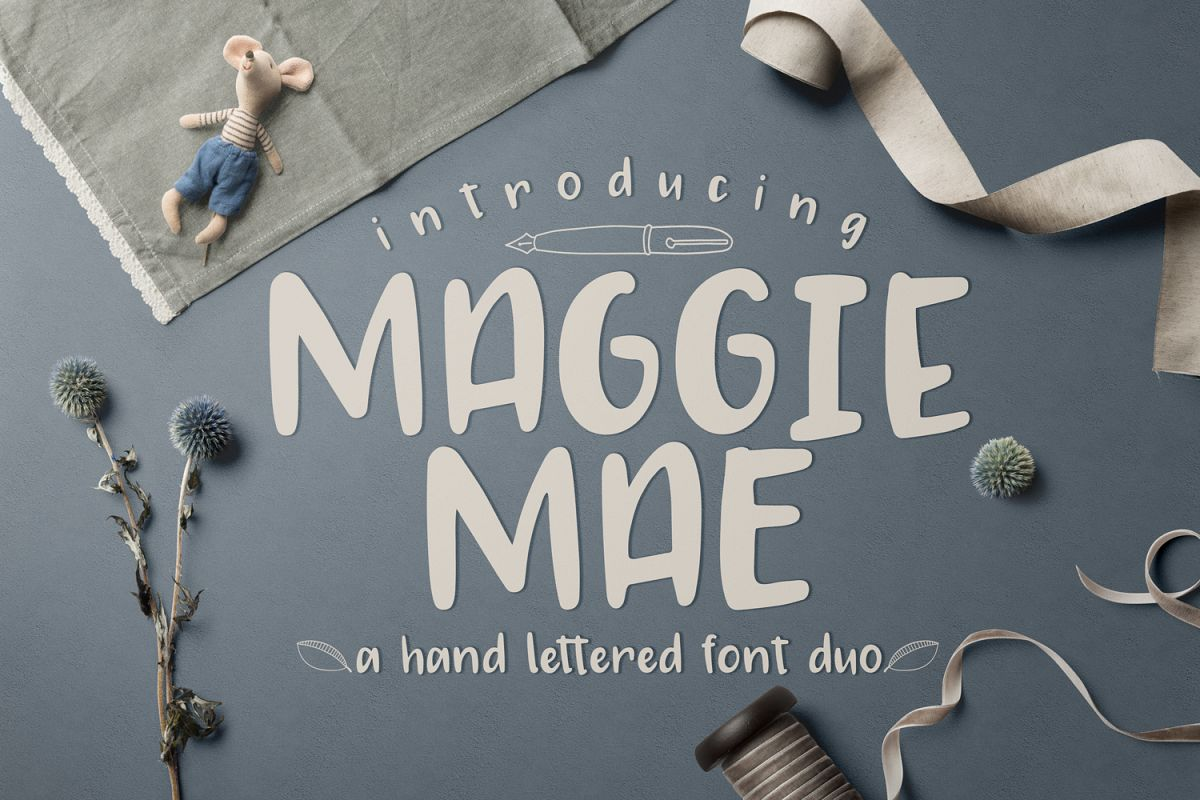 Maggie Mae Font Duo example image