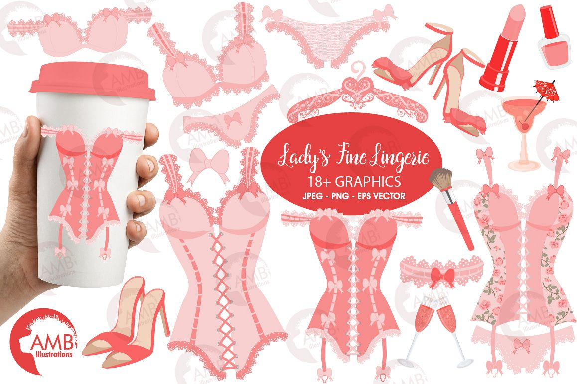 Girls lingerie party clip art girlfriend
