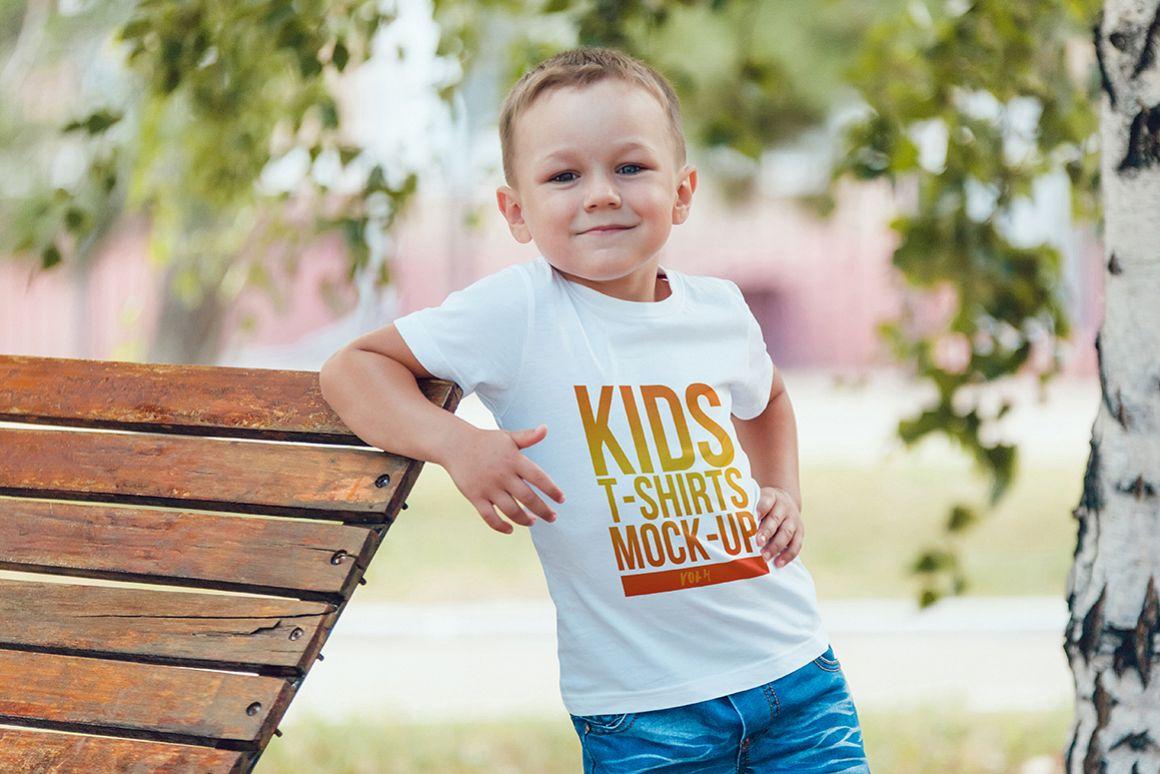 Kids T-Shirt Mock-Up Vol. 4 example image 11